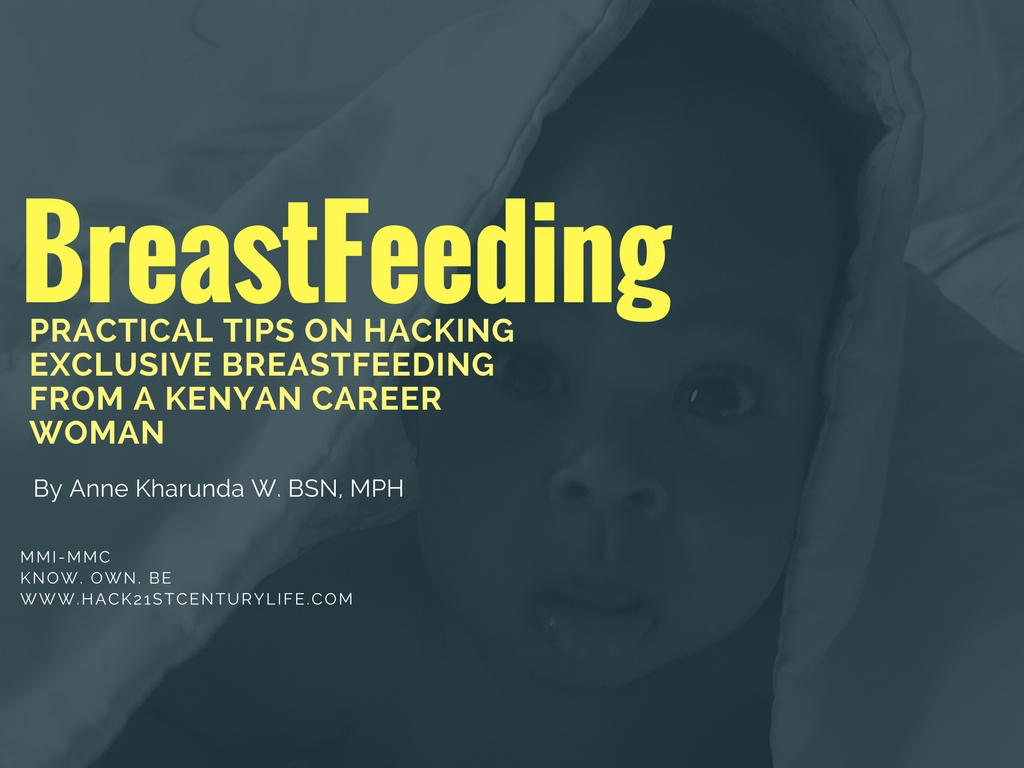 poster with author credentials and topic: exclusively breastfeeding