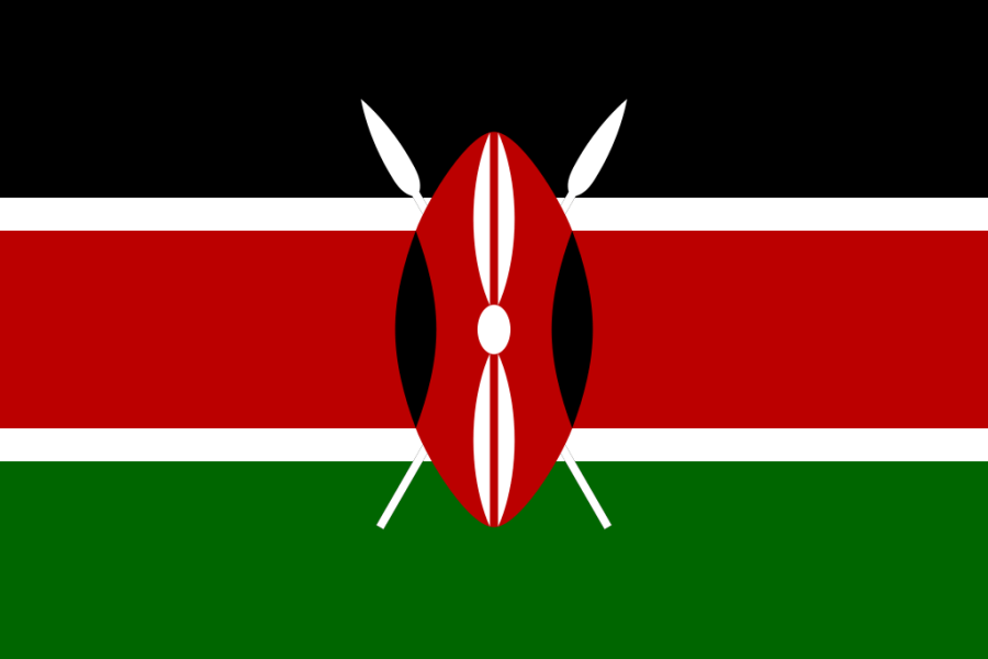 Flag of Kenya a Africa Cup of Nations 2019 finalist