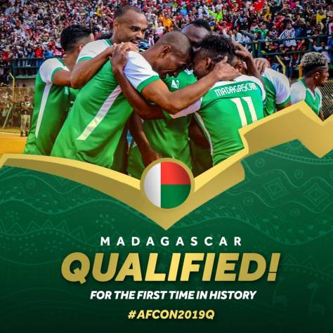 CAF congratulates Madagascar for qualifying for African of Nations of Nations Finals 2019