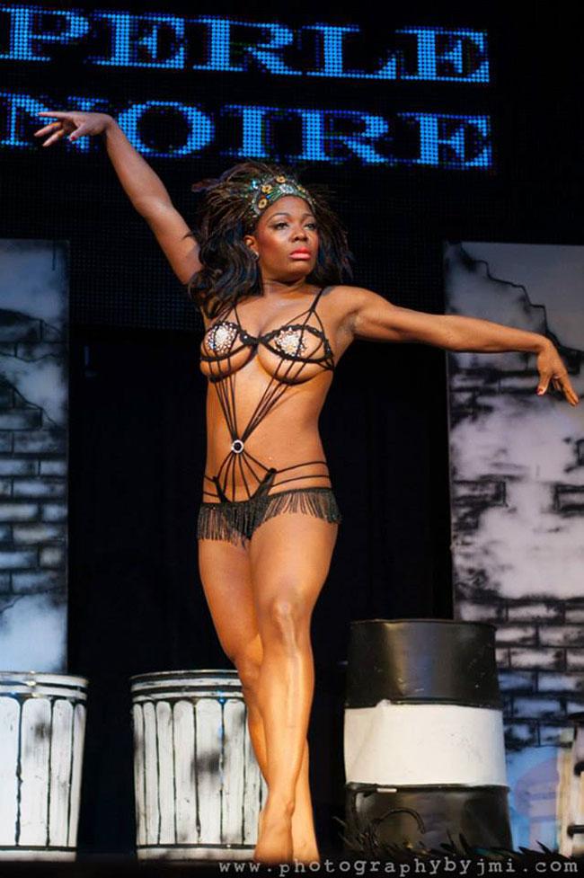 Perle Noire at the Show Me Burlesque Festival 2013. ©JMI Photo