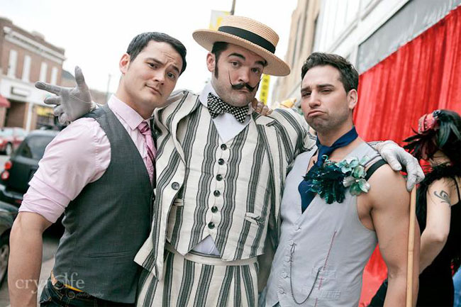 Bazuka Joe, Russell Bruner and Jett Adore at the Show Me Burlesque Festival 2013.  ©Crystal Rolfe