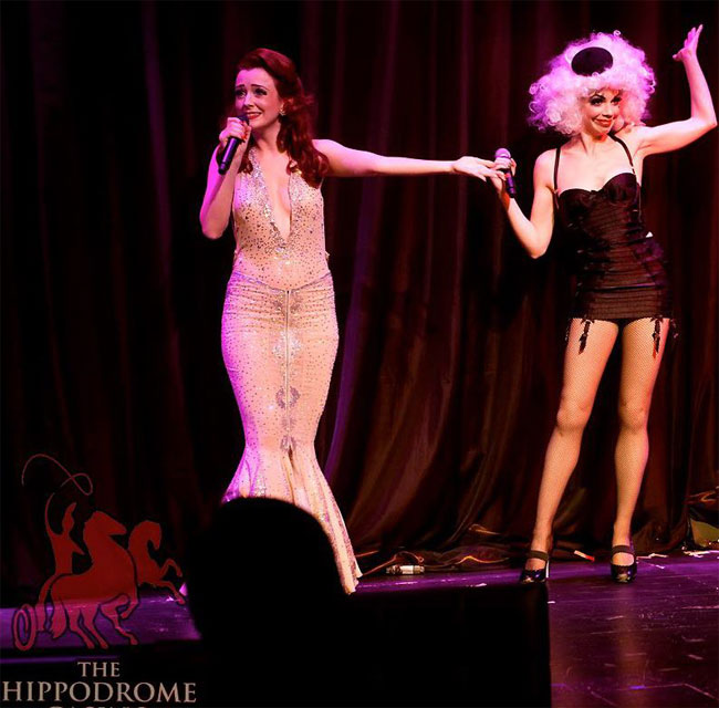 Polly Rae and Laurie Hagen in a previous run of Between the Sheets.  ©Soho Burlesque Club