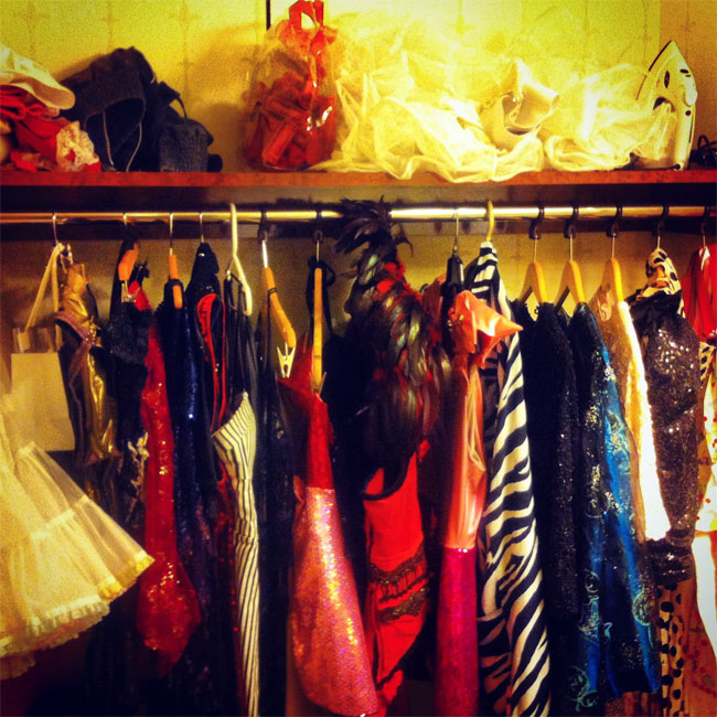 Sickening outfits waiting to be worn...  ©Lola Frost  (Burlesque Hall of Fame Weekend 2013)