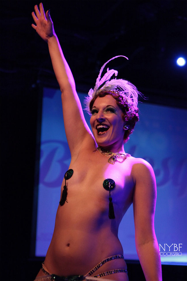 Gin Minksy at the New York Burlesque Festival Thursday Night Teaser Party. ©Don Spiro