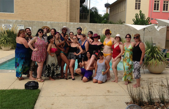 Pool party fun at the San Antonio Burlesque Festival.  ©Russell Bruner