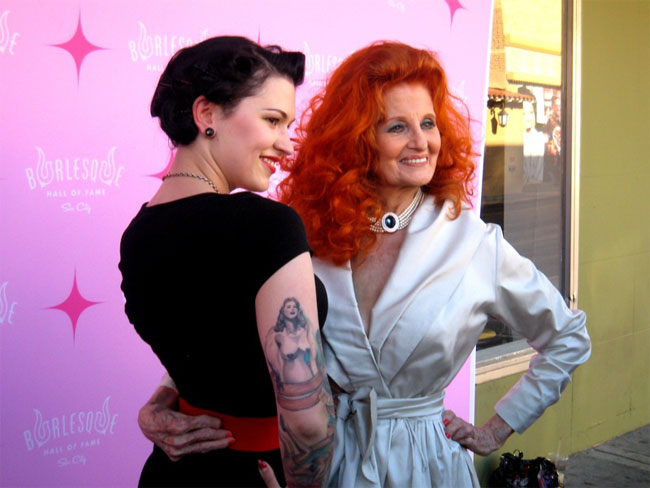 LouLou D'vil with Tempest Storm. .©JDX  (Burlesque TOP 50 2013 Postmortem, by J.D. Oxblood)