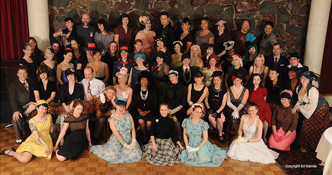 The class photo at the first BurlyCon in November 2008.  ©Ed Barnas