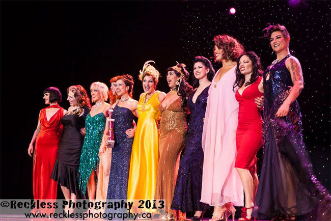 "Sydni Deveraux: ""Standing with such incredible women onstage at BHoF 2013 - a surreal moment, burned into my memory.""  ©Reckless Photography"