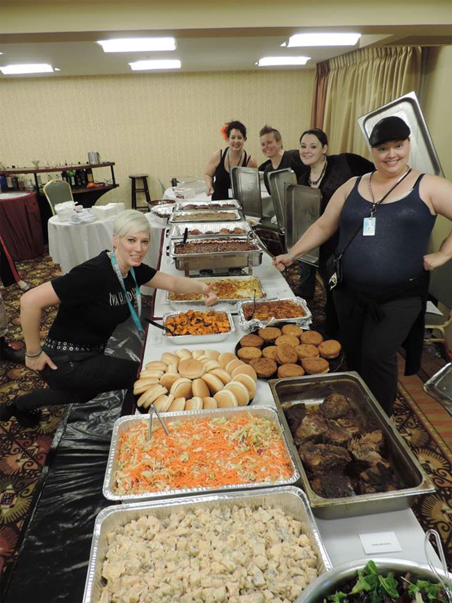 Iva Handfull catering at BurlyCon 2013.  ©Ruby Whiines Photography