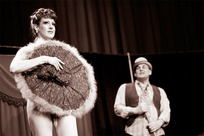 """Burgundy Brixx: """"I had the great pleasure of tributing the great Gypsy Rose Lee again this year in my show for the Vancouver Fringe Festival. History adds so much richness to my work.""""  ©Jess Desaulniers-Lea"""