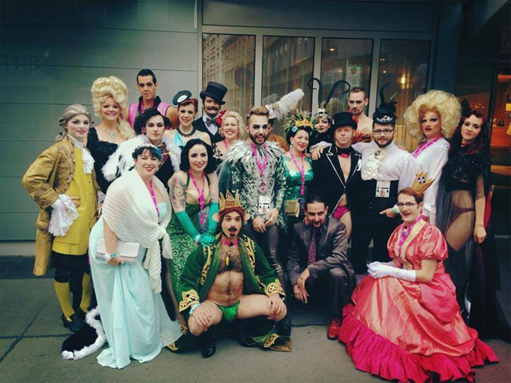 The Vienna Boylesque Festival cast before the Life Ball. ©Melody D'Amour