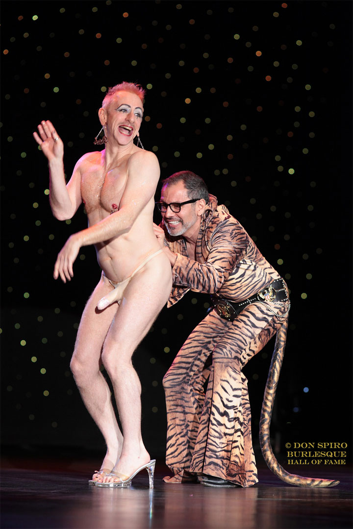 Tigger! and El Vez in the Burlesque Hall of Fame Weekend 2014 Sunday Night Icons and All Stars showcase.   ©Don Spiro