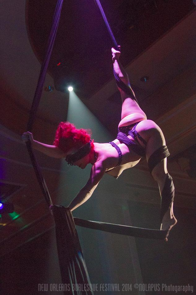 Angi B. Lovely at the New Orleans Burlesque Festival 2014.  ©NOLAPUS.com