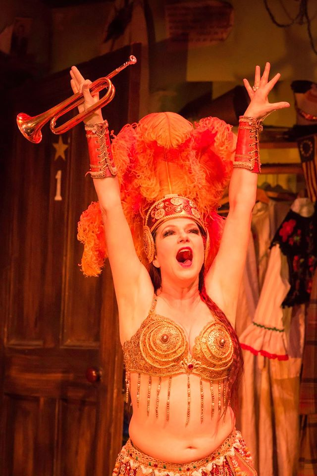 Louise Gold as Mazeppa in  Gypsy at the Savoy Theatre.  ©Johan Persson
