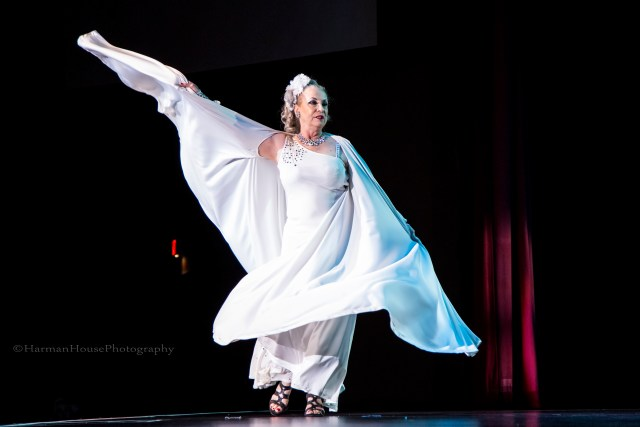 Isis Starr at the Burlesque Hall of Fame Weekend 2015 58th Annual Titans of Tease Reunion Showcase.  ©Chris Harman/Harman House Photography for 21st Century Burlesque Magazine. Not to be used without permission.