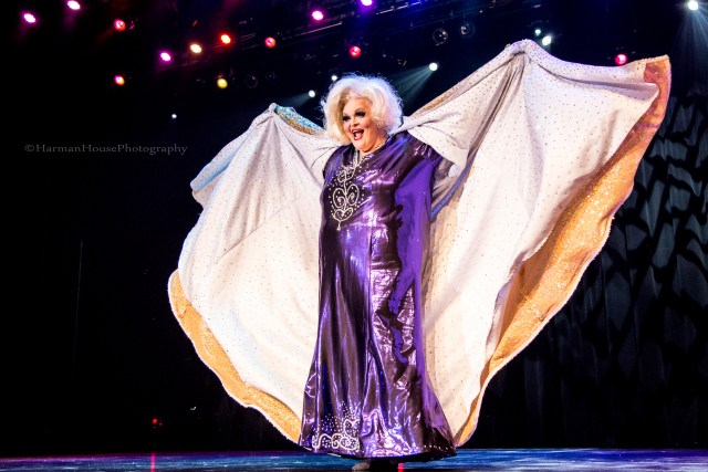Big Fannie Annie at the Burlesque Hall of Fame Weekend 2015: 58th Annual Titans of Tease Reunion Showcase.  ©Chris Harman/Harman House Photography for 21st Century Burlesque Magazine. Not to be used without permission.