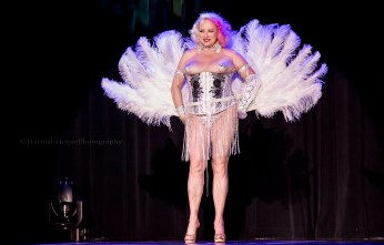 Camille 2000 at the Burlesque Hall of Fame Weekend 2015: 58th Annual Titans of Tease Reunion Showcase. ©Chris Harman/Harman House Photography for 21st Century Burlesque Magazine. Not to be used without permission.