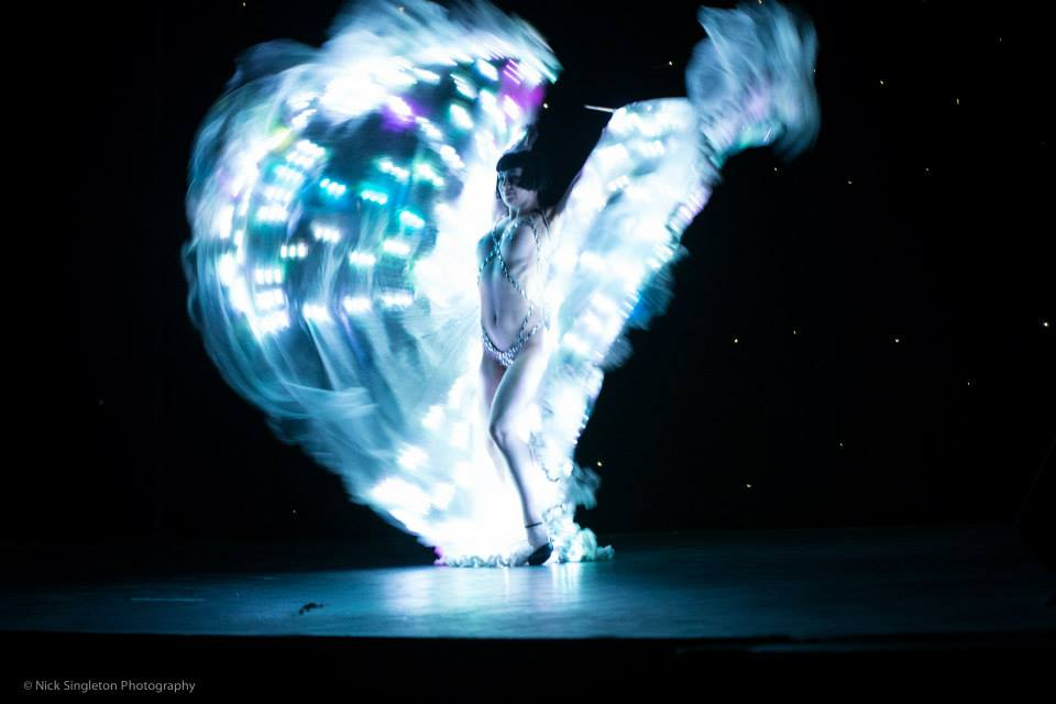 Vicky Butterfly at the Hebden Bridge Burlesque Festival 2015, by Nick Singleton Photography