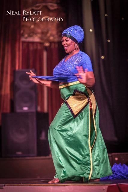 Violet Blaze stars in Burlesque Noir at the Blackpool Tower Ballroom. Photo Neal Rylatt Photography.