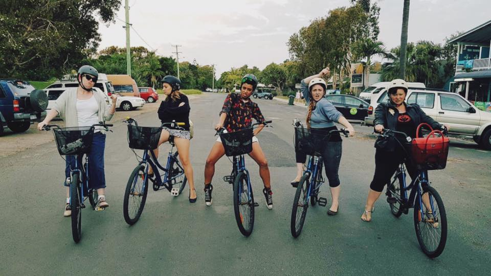 The Australian Burlesque Festival Byron Bike Gang. c. Alyssa Kitt