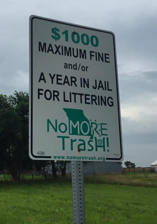 Dont litter in MO