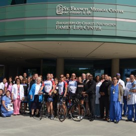 We received quite a reception upon arrival at St. Francis Medical Center in Lynwood, CA