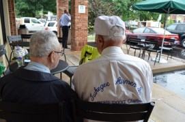 188 years of wisdom between these two WWII vets from the Greatest Generation.