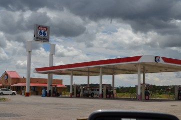 A larger than average gas station.