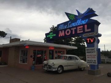 Classic Blue Swallow Motel in Tucumcari.