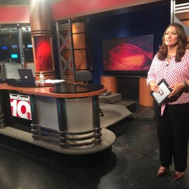 In studio at News Channel 10 in Amarillo.