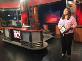 In studio at News Channel 10 in Amarillo.