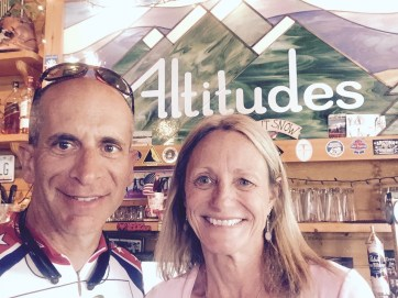 With Linda the owner of Altitudes Bar & Grill after a delicious meal.