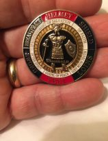 Armor of God coin received from Tim Parker, to help protect us during our journey.