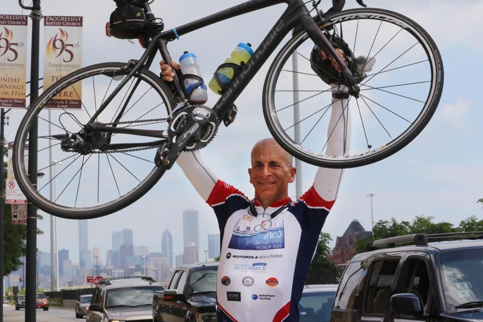 David Hirsch with Chicago Bike