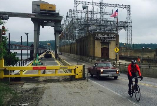 Making it over the Conowingo Hydro Electric bridge.