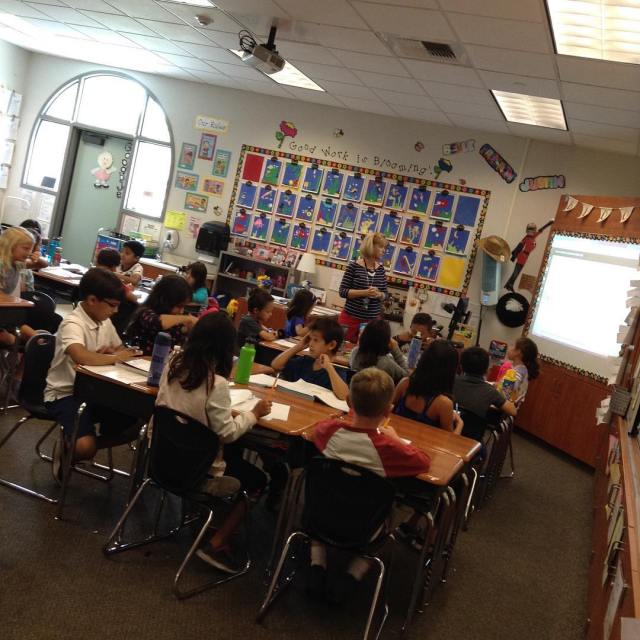 Ms Marcheses 3rd graders learning math!