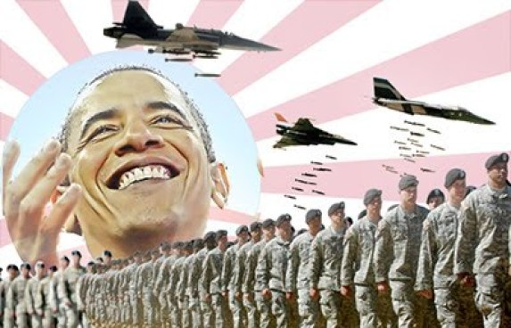 BARRACK O'BOMER: When the Neo-Con sales pitch was spent, they elite tried the Socialist Bomber, which has already stalled in its tracks.