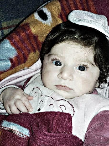 One year old Rimas, murdered by Western backed terrorists. Kafarya and Foua
