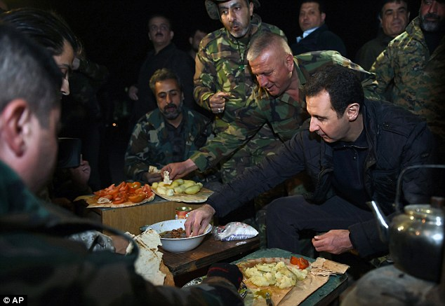 assad with army