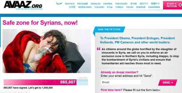 syria avaaz