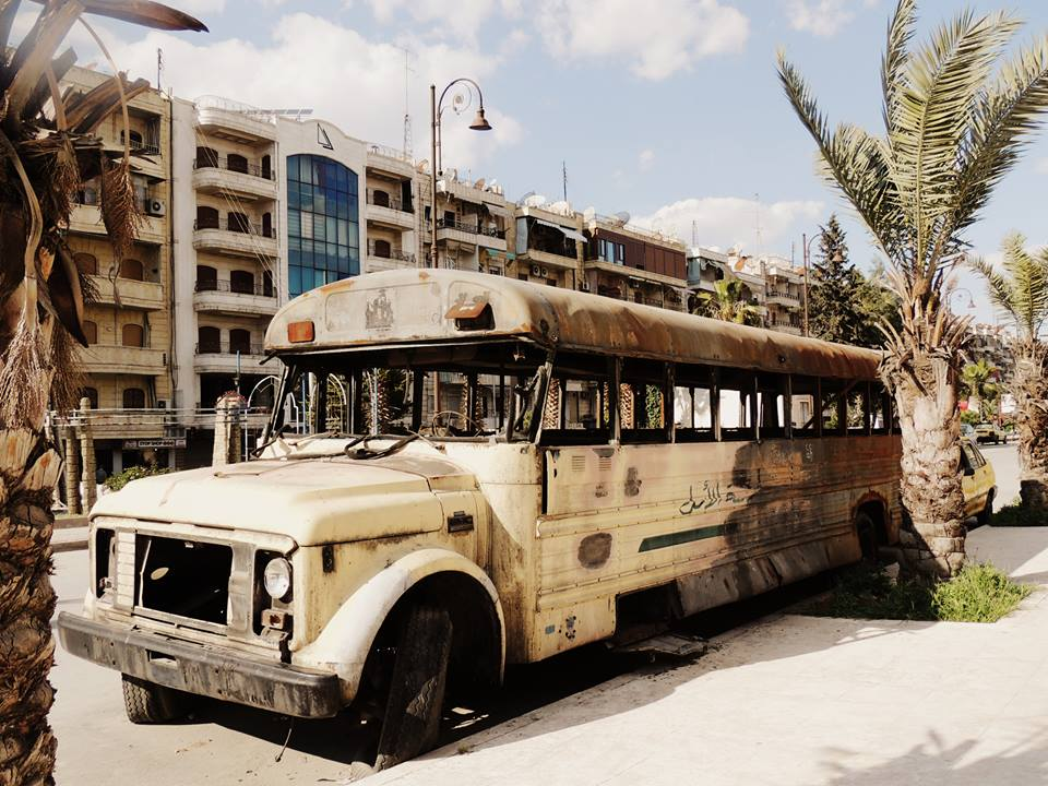 Aleppo bus Shababeek