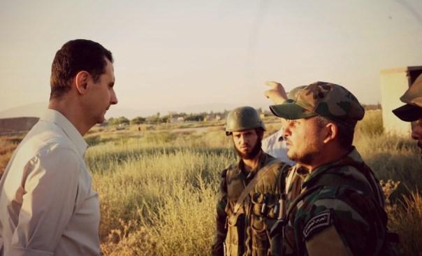 Assad on frontlines