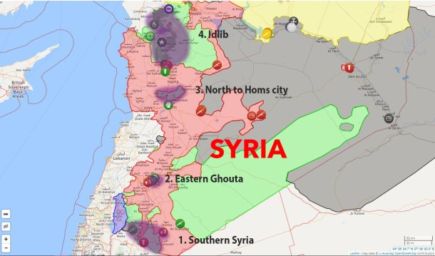 1 Syria Safe Zones Map