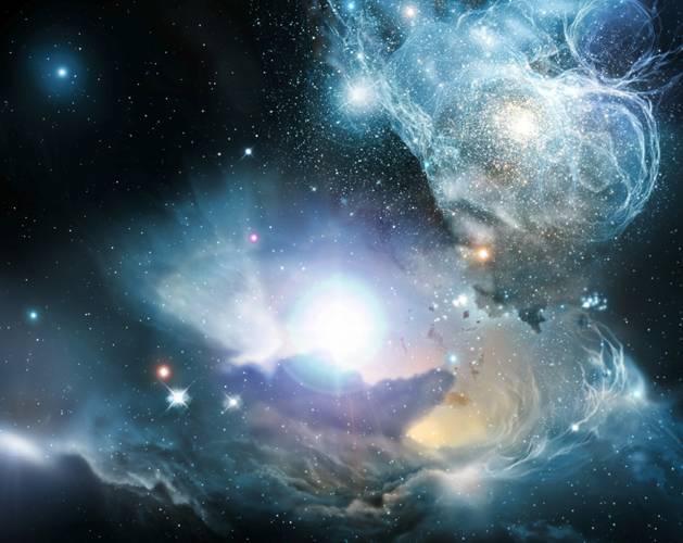 """V posledních dvou stoletích jsme poznali, že vesmír není """"velebně neměnný"""". Vědci zjistili, že hvězdy se vyvíjejí a nevratně ovlivňují složení hmoty ve vesmíru, který se jako celek rovněž neustále vyvíjí. Fyzikové začali chápat vesmír jako prostor, vyplněný hmotou, která se mění v čase."""
