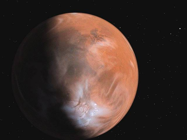 Americký pojízdný robot Spirit v těchto dnech poslal na Zemi úžasné snímky písečného víru, který se prohání po povrchu Marsu.