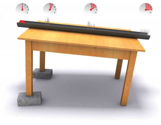 Dva objekty upuštěné ve vakuu v ten samý čas ze stejné výšky, dopadnou na zem společně. Nezáleží přitom ani na jejich váze či hustotě.