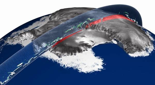 Uprostřed nejnehostinějšího kouta naší planety je pod tunami ledu pohřbeno pohoří, které popírá dosavadní představy geologů o vzniku hor. Odborníci se v současnosti zabývají hned několika hypotézami jeho vzniku.