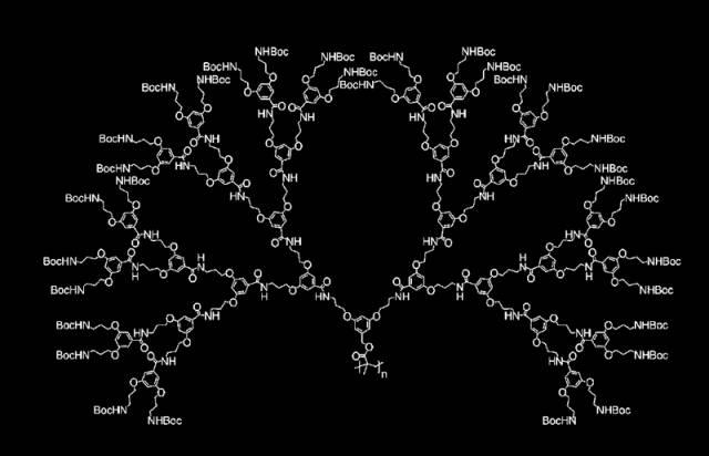 Příroda sice dokáže vyprodukovat skutečné molekulární giganty, lidské technologie však za ní stále dosti zaostávají. Švýcarským chemikům se nedávno podařilo vyrobit zatím největší syntetickou molekulu, která se může hrdě měřit např. s velikostí virů.