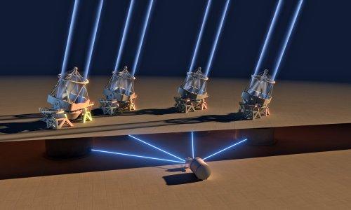 Dalekohledy VLT mohou pracovat jako jeden teleskop o průměru 16 metrů