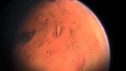 Organické molekuly a jezero na Marsu